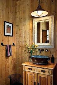 Cabin Style Decor Idea Bathroom Decorating Must Haves Rustic Sink For