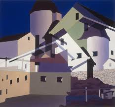 Charles Sheeler Composition Around White Oil On Canvas