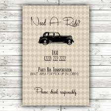 Vintage Rustic Wedding Sign Wedding Taxi Sign Digital Download DIY Printable 4x6