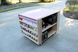 bedroom impressive diy portable workbench with storage free plans