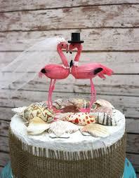 Beach Wedding Cake Topper Tropical Destination Flamingo