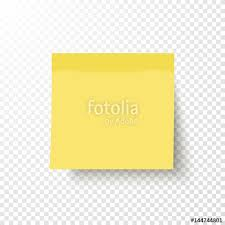 Yellow sticky note isolated on transparent background Note post