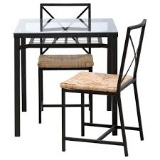 Kitchen Dinette Sets Ikea by Ikea Glass Dining Table Set Top Oval Ikeaikea Tableoval And 96