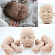 Lifelike Unpainted Reborn Doll Kits Soft Vinyl Head 34 Limbs For