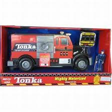 100 Tonka Mighty Motorized Fire Truck Armored Bank Set With Lights Alarm