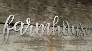 Farmhouse Metal Sign Word Art Words Rustic Wall Decor Signs