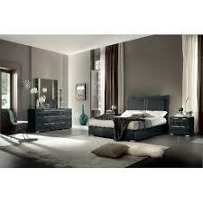 Dark Gray Modern 6 Piece King Bedroom Set Versilia