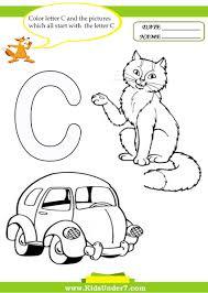 Letter C Worksheets Preschool