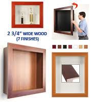 Designer SwingFrame Display Cases Wide Wood