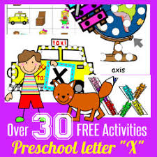 Learn To Read Preschool Alphabet Letter X