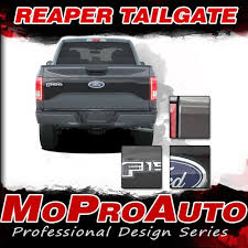 2015-2017 F-150 FORD Truck REAPER TAILGATE Vinyl Decals 3M Pro ... 2015 2016 2017 2018 2019 Ford F150 Stripes Lead Foot Special Is The Motor Trend Truck Of Year 52019 Torn Bed Mudslinger Style Side Vinyl Wraps Decals Saifee Signs Houston Tx Racing Frally Split Amazoncom Rosie Funny Chevy Dodge Quote Die Cut Free Shipping 2 Pc Raptor Side Stripe Graphic Sticker For Product Decal Sticker Stripe Kit For Explorer Sport Trac Rad Packages 4x4 And 2wd Trucks Lift Kits Wheels American Flag Aftershock Predator Graphics Force Two Solid Color 092014 Series