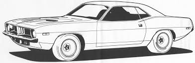 Muscle Car Coloring Pages Pin Cuda Colouring On Pinterest