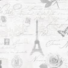 Calligraphy Paris Postcard Wallpaper