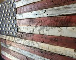 Wooden American FlagBarn Wood FlagRustic FlagWooden Flag Reclaimed