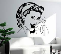 100 Sexy Living Rooms US 93 Laughing Girl Wall Stickers Woman Lady Pop Art Bedroom Room Home Decor Vinyl Wall Decals D315 Laughing Girl Wall
