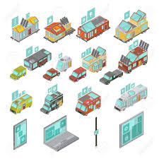 100 Vans Homes Mobile Homes Isometric Set Including Electronic Devices Vans