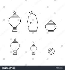 Thai Chess Outline Icon For Board Game
