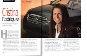 100 Cristina Rodriguez Latino Leaders AprilMay 2013 Vehicle