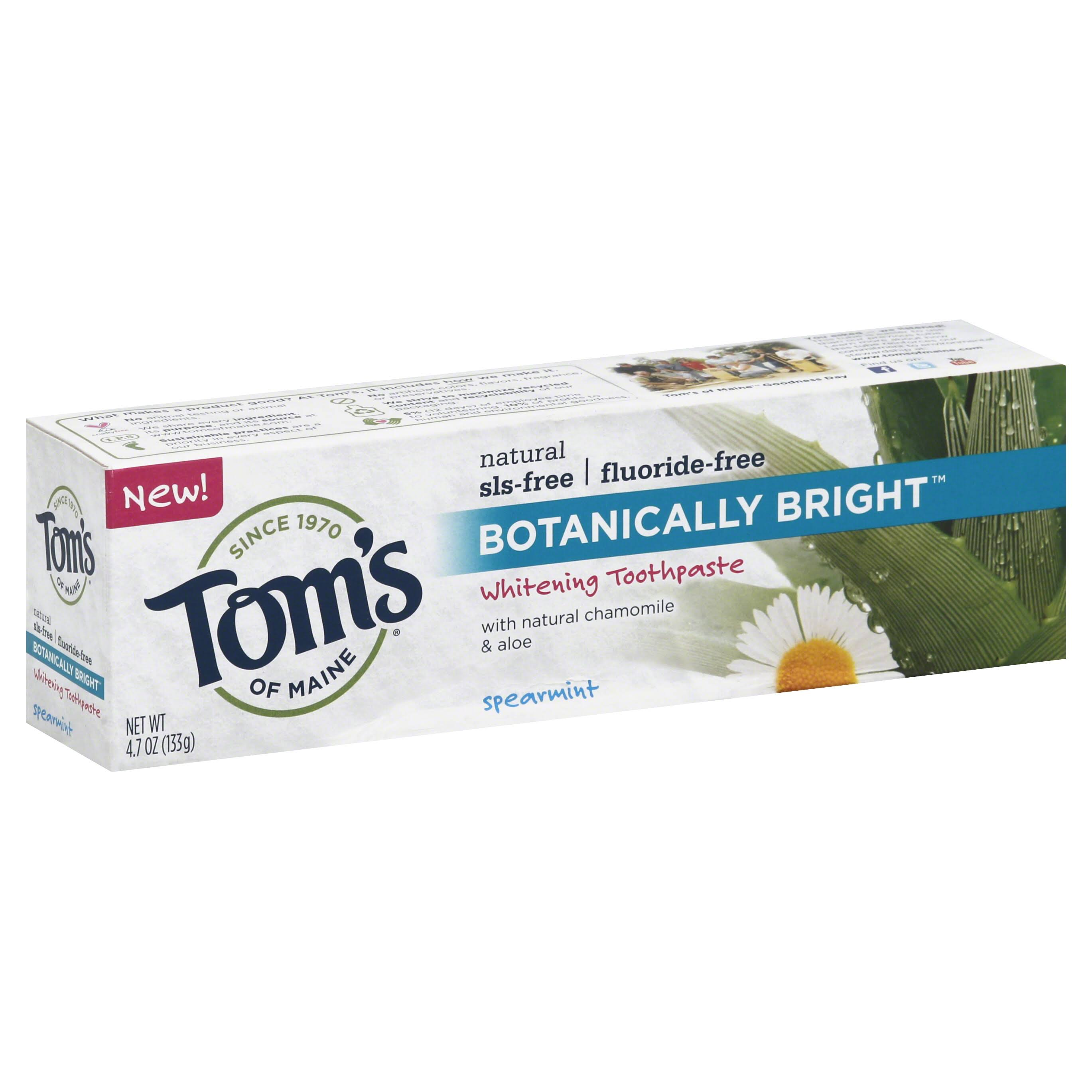 Tom's Of Maine Botanically Bright Whitening Toothpaste - Spearmint