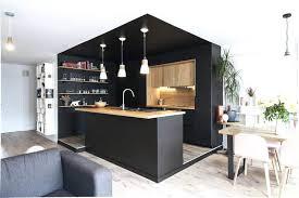 faire une cuisine cuisine noir et bois cuisine noir mat et bois clair