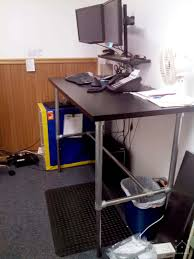 Standing Desk Conversion Kit by 37 Diy Standing Desks Built With Pipe And Kee Klamp Simplified