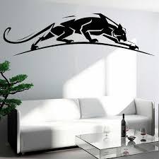 geometrische panther wand aufkleber wilden tier leopard aufkleber predator panthera aufkleber tiere wohnkultur wohnzimmer dekoration