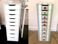 Ikea Alex drawer unit painter s tape and super gold spray paint