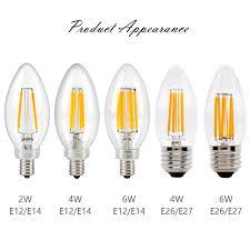 sunmeg c35 candelabra led light bulbs 110v 220v warm white 4w 6w