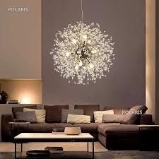 moderne led kristall kronleuchter löwenzahn beleuchtung