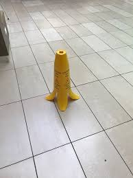 Banana Wet Floor Sign by This Wet Floor Sign Looks Like A Banana Pets Funny Pinterest