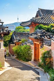 100 South Korean Houses Scenic Old Narrow Street And Traditional Houses Of Bukchon