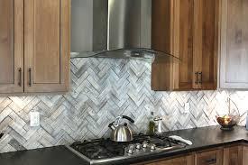 home design kitchen cabinets with white herringbone