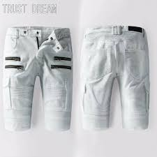 online get cheap mens white denim shorts aliexpress com alibaba