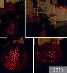 Drilled Pumpkin Designs by This Little House Of Mine October 2013