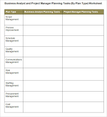 Cost Business Analysis Template