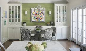 Interesting Dining Room Buffet Built In With White