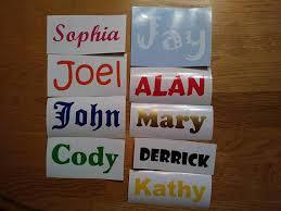 Vinyl lettering name decal custom stickers custom vinyl
