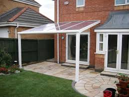 patio door awnings uk terrace covers polycarbonate glass verandas fixed roof