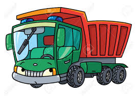 Funny Small Dump Truck With Eyes Vector Illustration Royalty Free ...