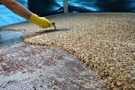 Resin Stone Flooring Epoxy Floor River Rock Types