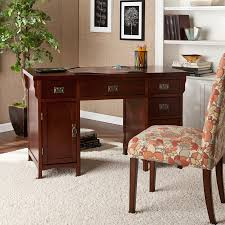 Sauder Edge Water Executive Desk by Ameriwood Computer Desk With Hutch Inspire Cherry Finish