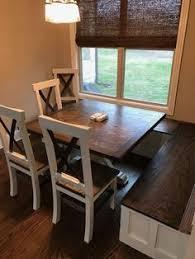 Custom Live Edge Ash Wood Trestle Dining Table