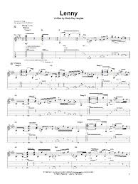 Lenny Sheet Music Add To Wish List Stevie Ray Vaughan