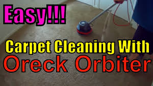 Oreck Floor Machine Pads by Using The Oreck Orbiter For Low Moisture Carpet Cleaning Youtube