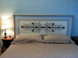 Wrought Iron King Headboard by Bedroom Enticing Wrought Iron On White Headboard Design With