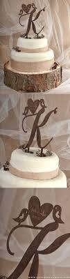 Rustic Wooden Wedding Love Bird Cake Toppers
