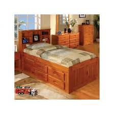 Twin Captains Bed With 6 Drawers by One Honey Twin Captains Bed One Student Desk With Chair And One