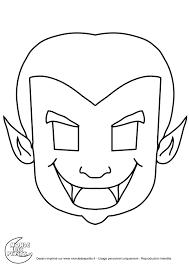 Mondedespetitsimagescoloriage Halloween Masque Dracula Karneval