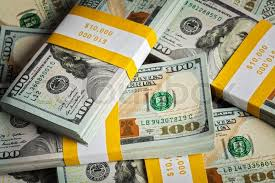 Creative business finance making money concept background of of