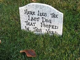 Halloween Tombstones Diy by Dog Tombstone For Halloween A Tongue In Cheek Warning To Dog